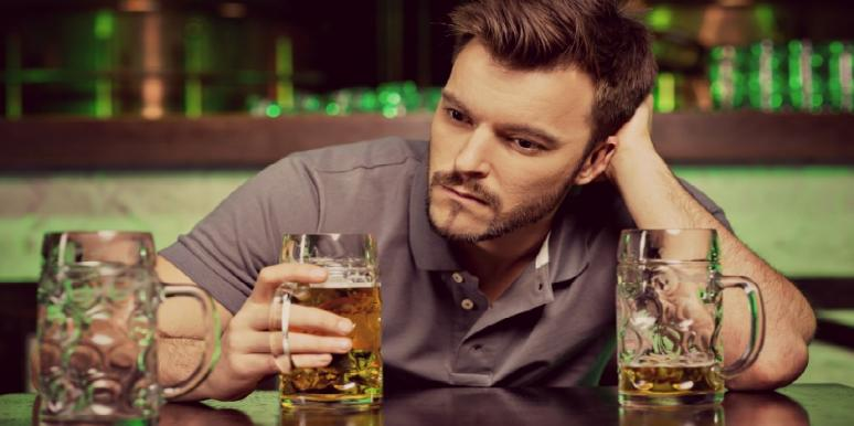man with drinking problem