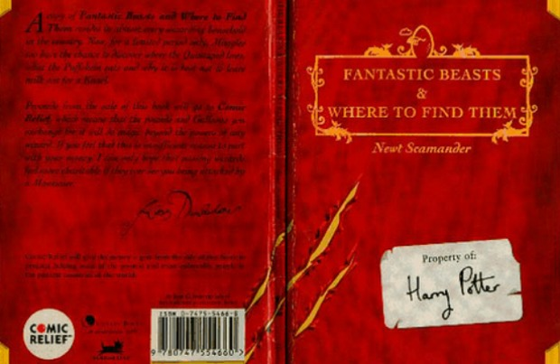 Fantastic Beasts Comic Relief book cover