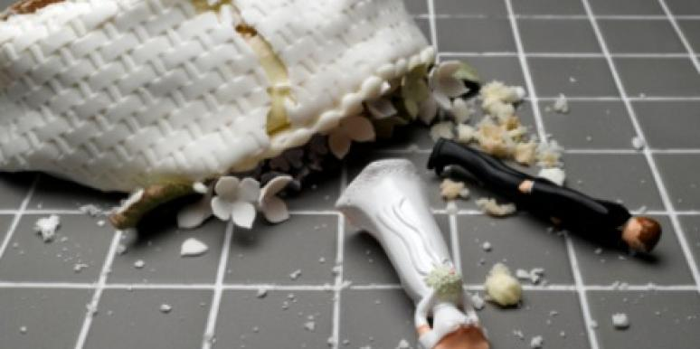 divorce wedding cake