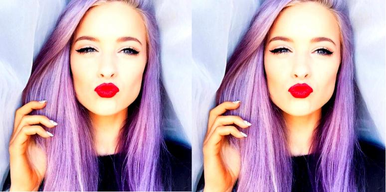 girl with purple hair