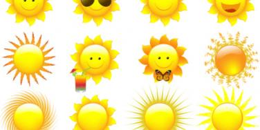 sunshine emoticons