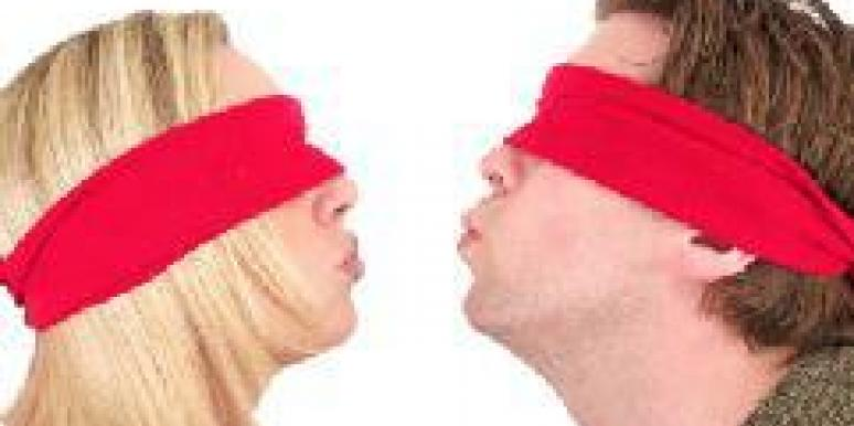 couple with blindfold