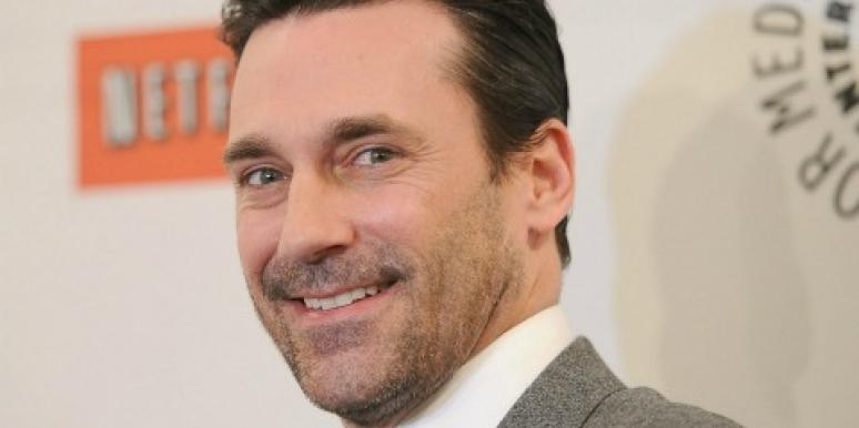 Jon Hamm up close mad men