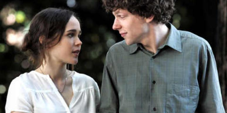 "Ellen Page and Jesse Eisenberg in Woody Allen's ""To Rome With Love."""