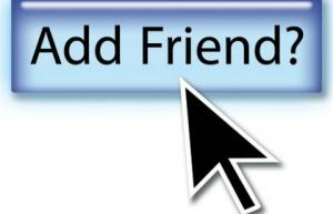 arrow hovering over add friend link