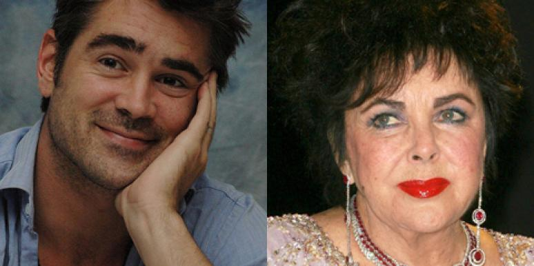 Colin Farrell and Elizabeth Taylor