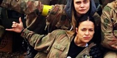 Cara Delevingne and Michelle Rodriguez before their breakup