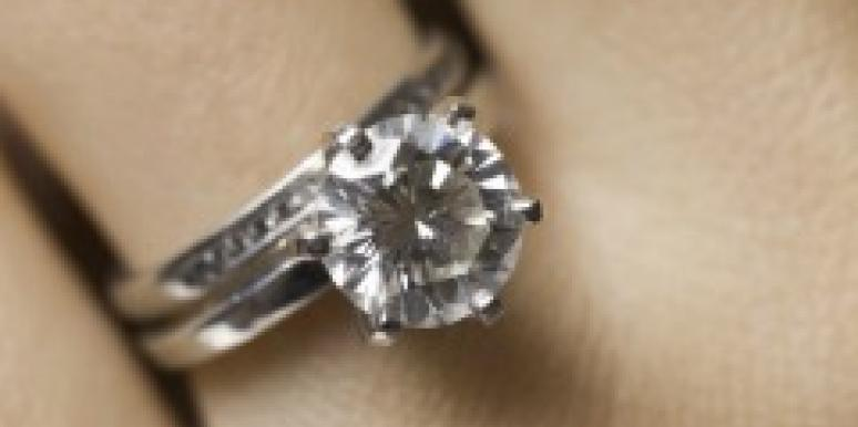 Engaged wedding ring