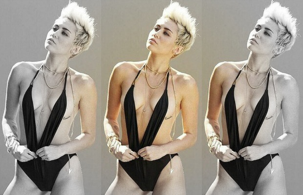 MIley nearly nude photo