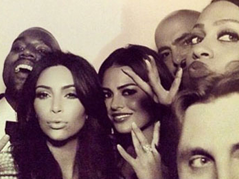 Kanye West & Kim Kardashian wedding - Instagram