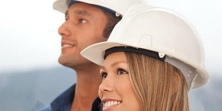 couple in hard hats
