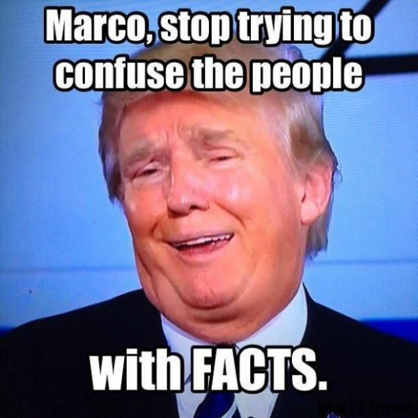 Funny Donald Trump meme on facts