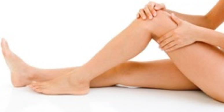 woman's legs smooth hairless