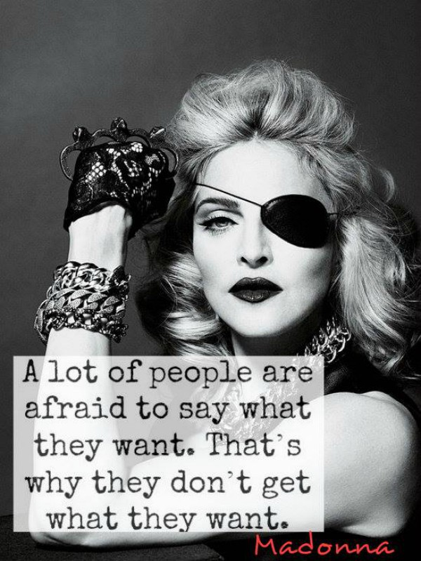 madonna Inspiring Quote About Life