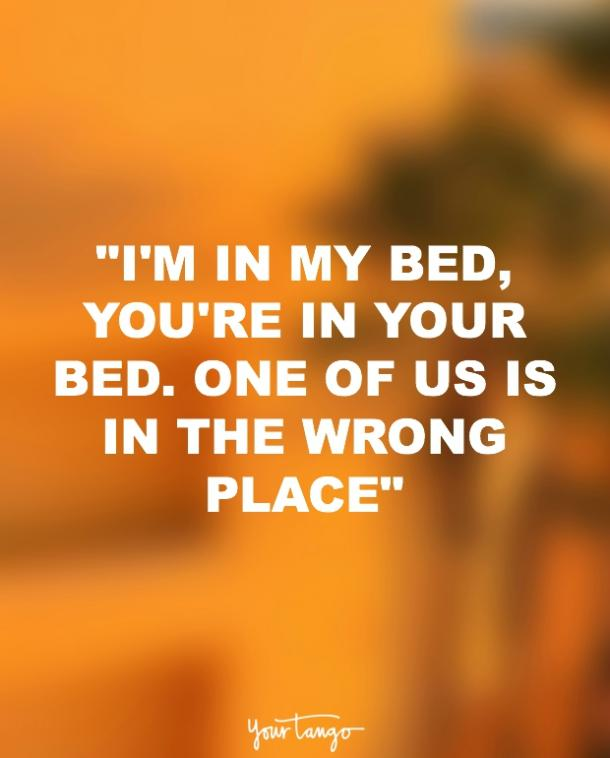 Missing your bed