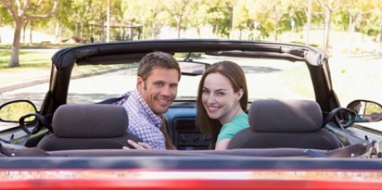 couple in a car