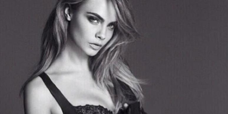 One of the hottest women in modeling today, Cara Delevingne poses nearly nude in a lingerie photo that she posted on Instagram.
