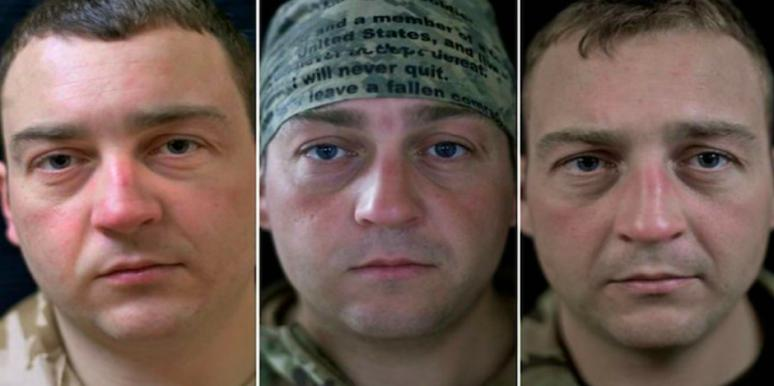 Soldiers Were Photographed Before During And After War