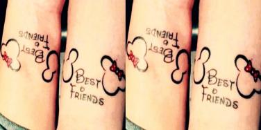 Disney best friends tattoos ideas