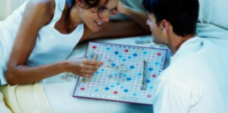 man woman scrabble