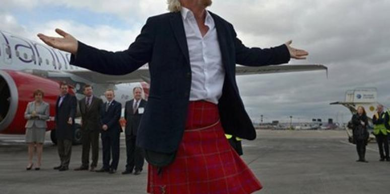 Richard Branson in a kilt