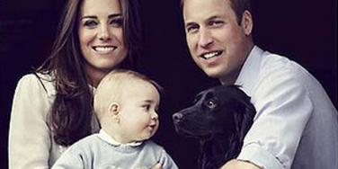 The Duke and Duchess of Cambridge's Royal Family: Kate Middleton, Prince William, Prince George and Lupo