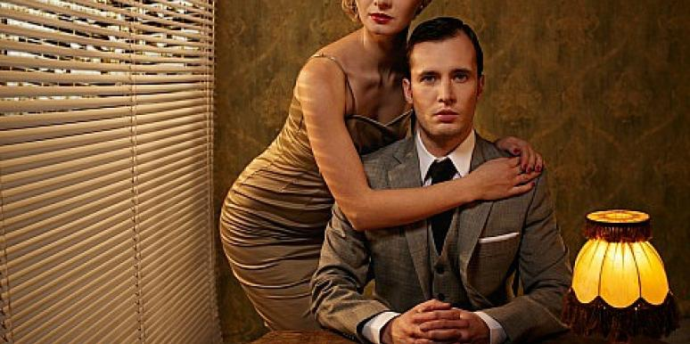 Mad Men inspired couple