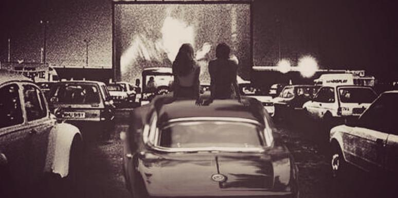 couple movie drive in date