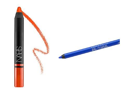 Urban Decay 24/7 Glide-on Eye Pencil in Chaos and Nars Satin Lip Pencil in Timanfaya