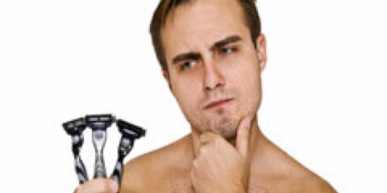 man facial hair shave razor