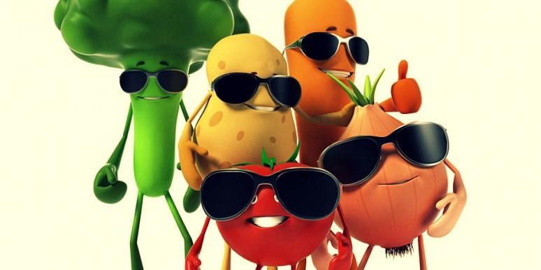 veggies in shades