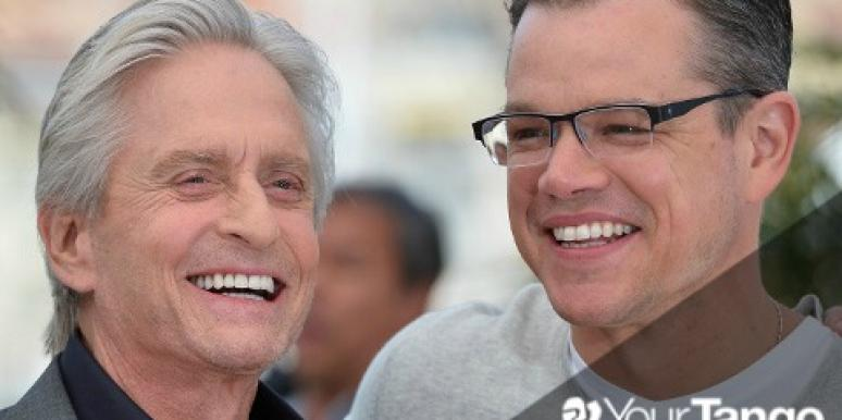 Love: Matt Damon: 'It's Great To Kiss Michael Douglas'