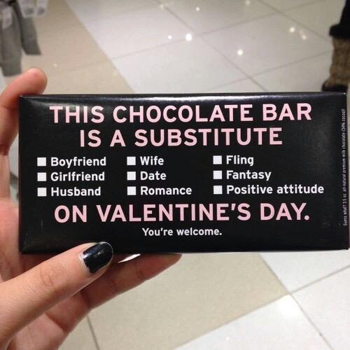 chocolate single valentines day gift