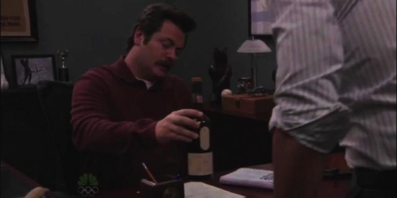 Nick Offerman as Ron Swanson from Parks and Recreation
