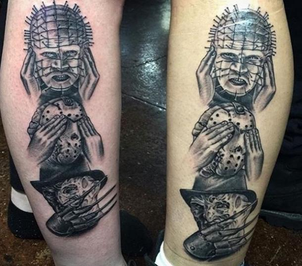 "6. 80s Horror ""See No Evil, Hear No Evil, Speak No Evil"" Tattoos"