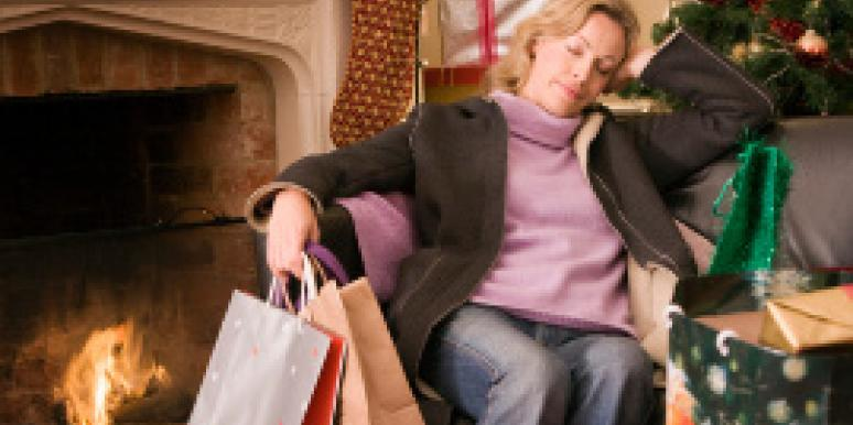 woman with gift bags