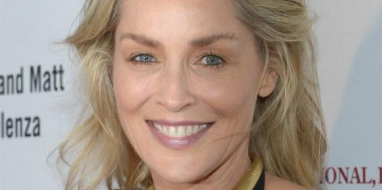 Sharon Stone up close
