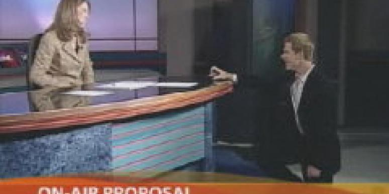 Texas Weatherman Proposes On Air