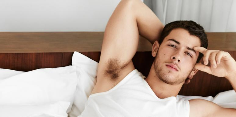 Nick Jonas in bed talking about losing his virginity having sex for the first time
