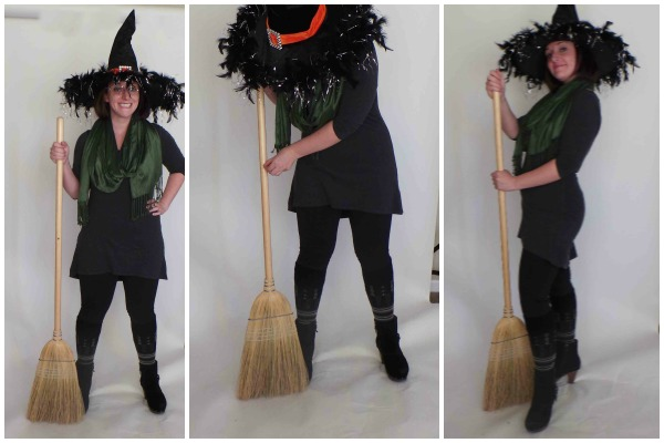Accessories: Witch Hat, Broom, Green Scarf, Boots