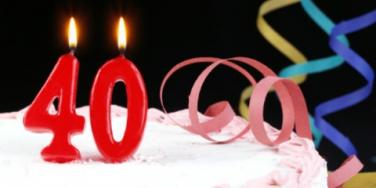 40 forty birthday cake candles