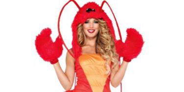 female lobster costume