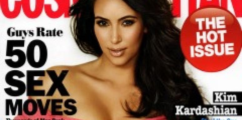 Kim Kardashian on the cover of Cosmo august 2011