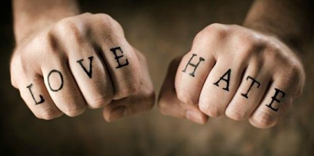 love hate fists