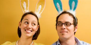 couple in bunny ears