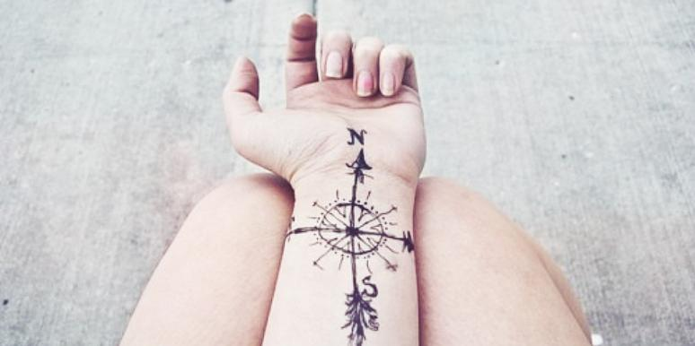 Travel Wrist Tattoo For Wanderlusters