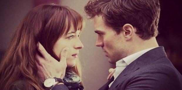 Dakota Johnson and Jamie Dornan in 50 shades of grey