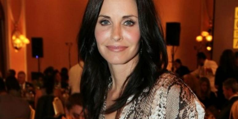 Courteney Cox snake skin