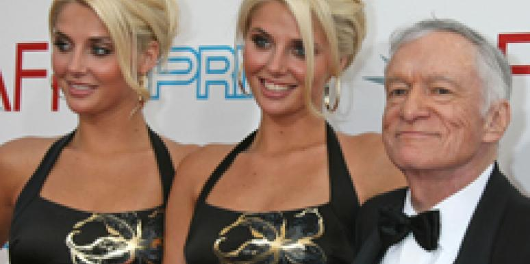 hugh hefner, twins, Shannon, Playboy