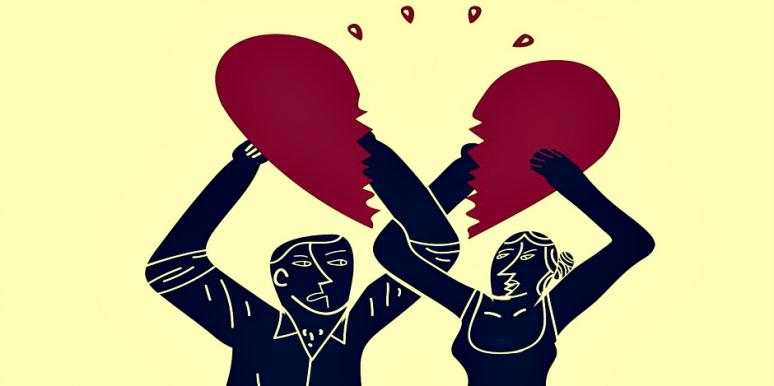 couple with broken heart
